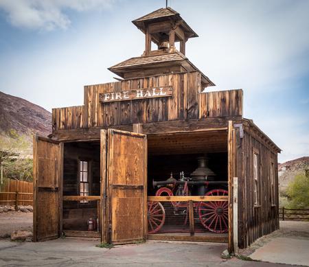 Bernardino: Fire hall in Calico Ghost Town near Barstow, California, owned by San Bernardino County