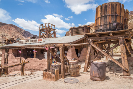 MAY 23. 2015- Calico, CA, USA: Calico is a ghost town in San Bernardino County, California, United States. Was founded in 1881 as a silver mining town. Now it is a county park. Stock Photo
