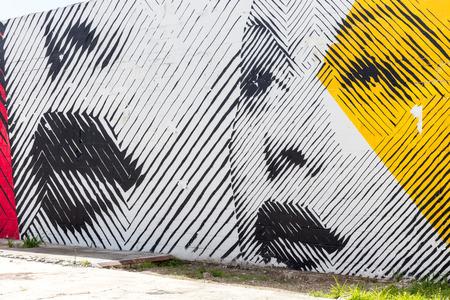 Straßenkunst Graffiti. Zusammenfassung kreative Zeichnung an den Wänden von Miami Stadt. USA städtische zeitgenössische Kultur