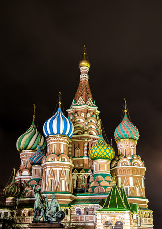 St. Basil Cathedral, Moscow Kremlin, Russia at night