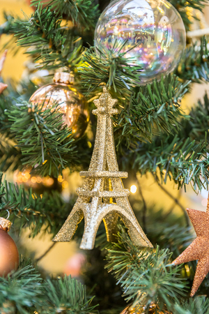 christmas tree decoration in vintage french style with eifel tower stock photo 72800308 - French Style Christmas Decorations