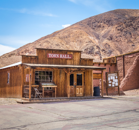 MAY 23. 2015- Town hall in Calico, CA, USA: Calico is a ghost town in San Bernardino County, California, United States. Was founded in 1881 as a silver mining town. Now it is a county park. Editorial