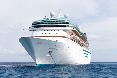 NASSAU, BAHAMAS - SEPTEMBER, 06, 2014: Royal Caribbeans ship, Majesty of the Seas, sails in the Port of the Bahamas on September 06, 2014