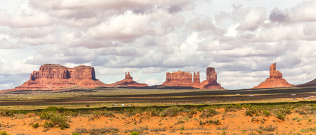 Monument Valley, popular turistic place in Utah, USA Stock Photo