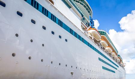 NASSAU, BAHAMAS - SEPTEMBER, 06, 2014: Royal Caribbean's ship, Majesty of the Seas in the Port of the Bahamas on September 06, 2014 Stock Photo - 124078330