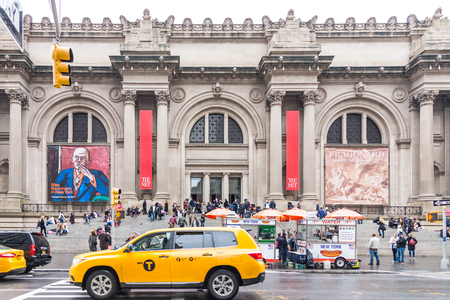NEW YORK, USA - DECEMBER 18, 2016 : The Metropolitan Museum of Art located in New York City, is the largest art museum in the United States and one of the ten largest in the world