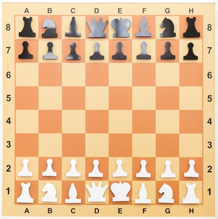 Magnetic chessboard. Education concept, chess lesson, intellectual game