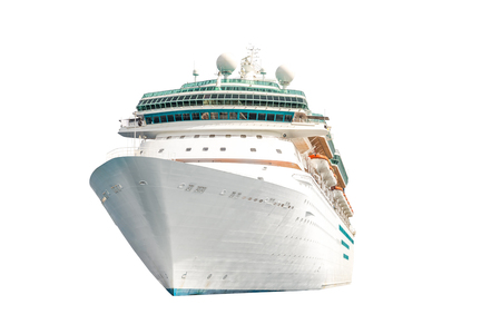Cruise ship isolated on white background, ocean liner Imagens