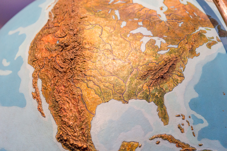 Real looking Earth map. North America in the center