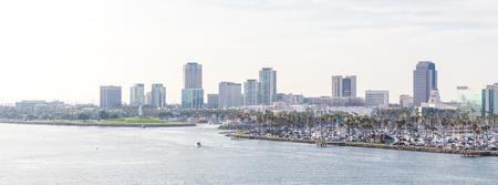 Long Beach California l'horizon du port des États-Unis avec des gratte-ciel Banque d'images