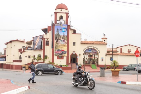 ENSENADA, MEXICO - MAY, 31, 2015: Street view of Ensenada Mexican city located 80 miles south of San Diego in Baja California