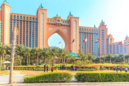 DUBAI, UAE- JANUARY 16: Atlantis, the Palm hotel in Dubai, UAE on January 16 2014. The resort has 1539 rooms