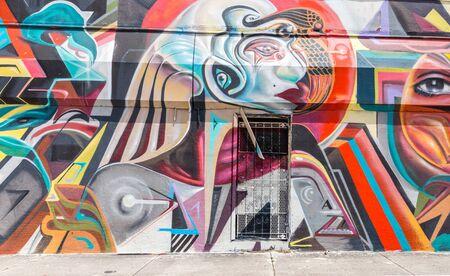 MIAMI, USA - AUGUST 29, 2014 : Graffiti art on wall in graffiti design district Wynwood on August 29, 2014 in Miami, Florida.