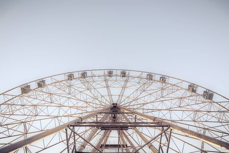 silhouette of Ferris wheel on the background of blue sky Stok Fotoğraf
