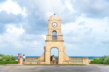Palm Beach, Florida, USA - September 14, 2019: Worth Avenue clock tower in Florida USA Redakční