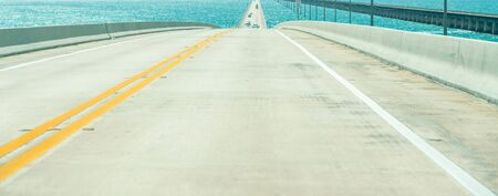 Road US1 to Key West over Florida keys Stock fotó - 132770817