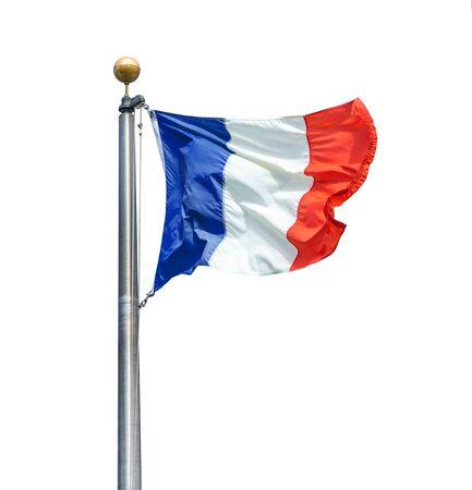 Flag of France isolated over white background Reklamní fotografie