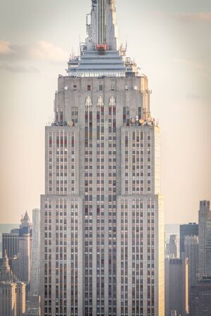 New york, USA - May 17, 2019: New York City skyline with the Empire State Building at sunset Editorial