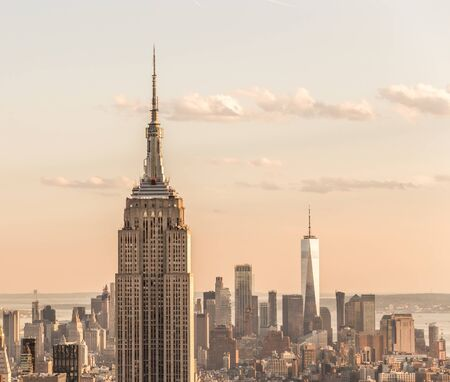 New york, USA - May 17, 2019: New York City skyline with the Empire State Building