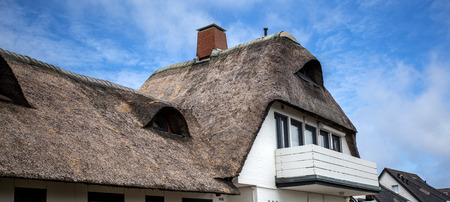 Reed roofed house in Germany.