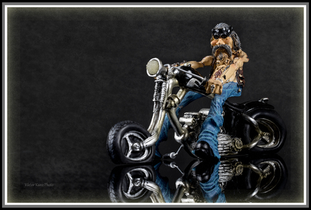 biker on a gray background