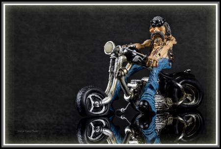 biker on a gray background
