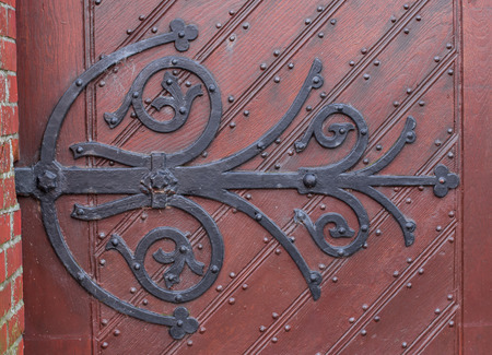 Old forged hinge on the door photo & Old Door Hinges Stock Photo Picture And Royalty Free Image. Image ...