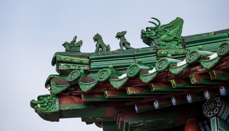 Chinese roof, fragment