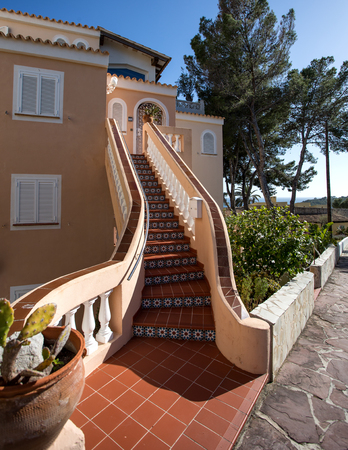 beautiful staircase to the house