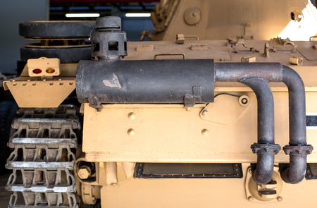 tank exhaust pipe Foto de archivo - 125079307