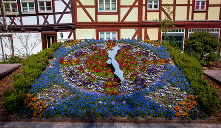 flower clock in germany Stock Photo