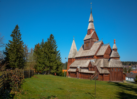 stave church Hahnenklee, Germany