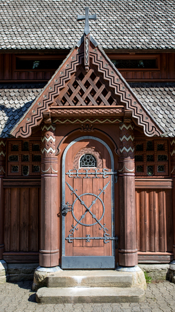 Wooden door. Entrance to the church!