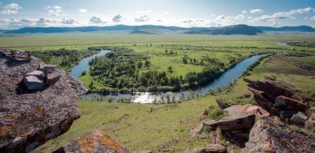 Russia. Khakassia Mountain landscape.