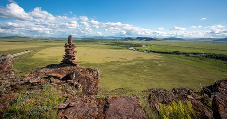Russia. Mountains in Khakassia. Sibirsky landscape.