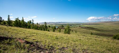 Siberian landscape. nature of Khakassia