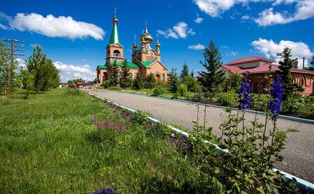 orthodox church in siberia Stock Photo