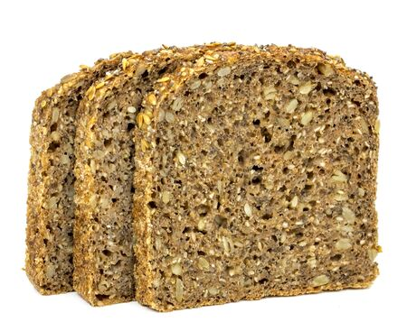 Protein bread on a white background