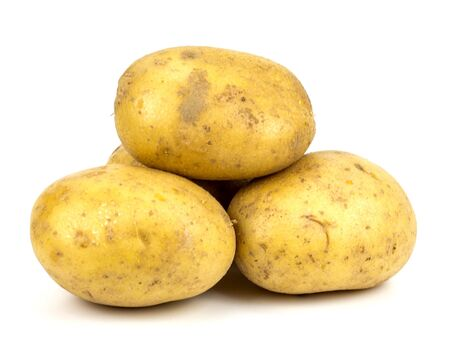 New potato isolated on white background close up Standard-Bild