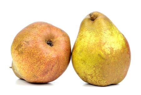 Ripe Pear On A White Background 版權商用圖片