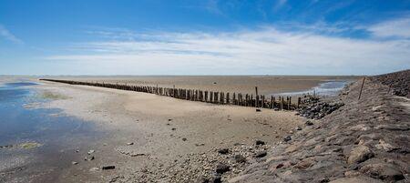 North Sea at low tide. Germany Nordstrand