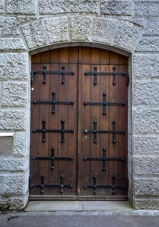 wooden doors in neuschwanstein castle