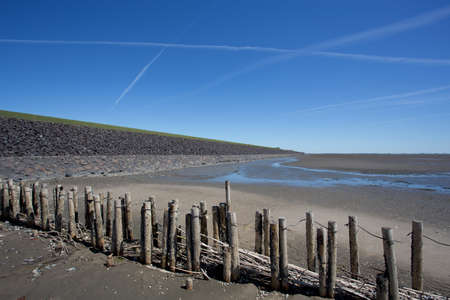 National Park Wattenmeer at low tide on the German North Sea coast