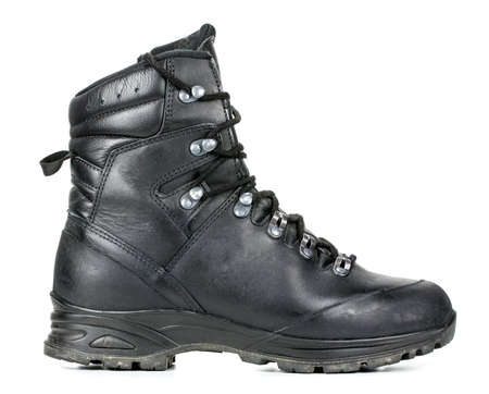 bundeswehr combat boots on a white background