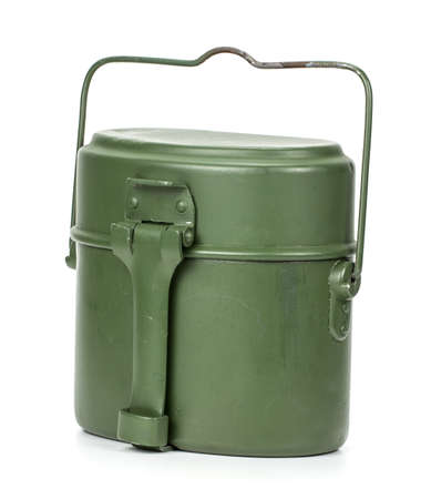 mess kit military Isolated on a white background 版權商用圖片