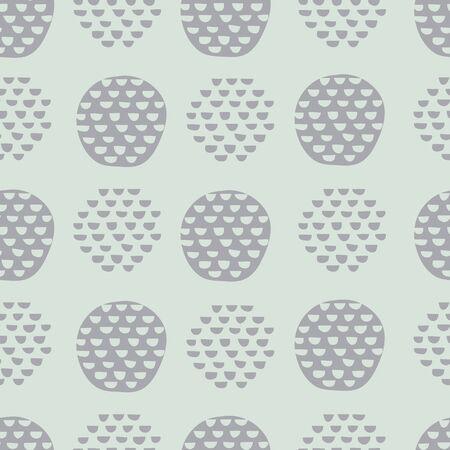 Green abstract vector pattern with semi circles Vektoros illusztráció