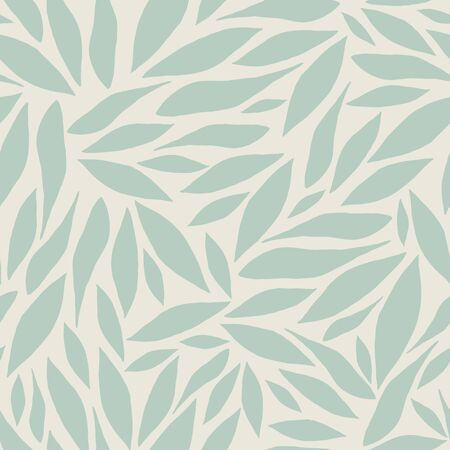 Abstract vector pattern with light green leaves