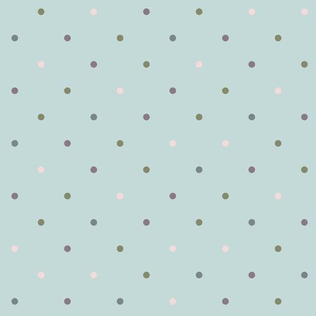 Light blue retro pattern with colorful polka dots 일러스트