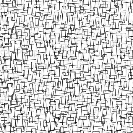Black and whitevpattern with hand drawn rectangles