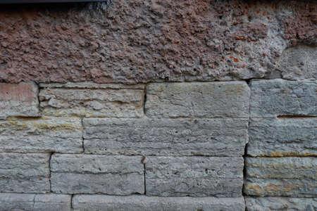 Stone background, house